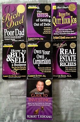 Rich Dad S Lot Of Items Book Cashflow 101 Investing Choose To Be