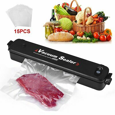 Vacuum Food Sealer Machine Storage Packaging Sous Vide Fresh Kitchen 15pcs Bags