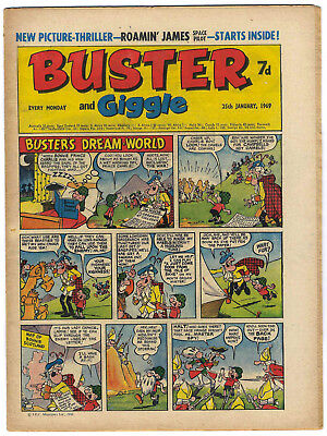 Buster 25 Jan 1969 (top grade) Rent-A-Ghost, Galaxus, Fishboy, Clever Dick
