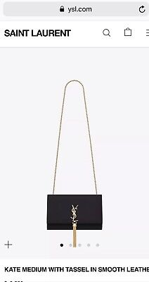 70bfc03603ab 100% Authentic Saint Laurent YSL KATE MEDIUM WITH TASSEL Shoulder Bag 2290