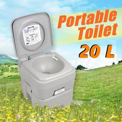 20 Litre Portable Outdoor Toilet 20L Camping Travel Caravan Provides 50 Flushes