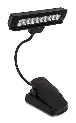 Bright Long Life 10 Led Rechargeable Flexible Clip - On Music Sheet Stand Light