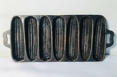 Vintage Cast Iron Corn Cob Mold Bread Muffin Cookware Pan-Kitchen/Cooking/Baking