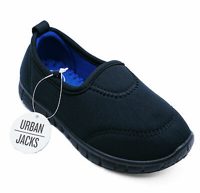 Girls Boys Black Slip-On School Pumps Trainers Casual Sports Shoes Uk 6-12