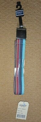 NEW- OSH KOSH Boys Multicolour Canvas Belt 90cm plus Black Canvas Belt (2 belts)