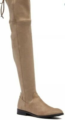 13c130b5b17 Dolce Vita Neely Women s Taupe Microsuede Over The Knee Boot Size 8  200