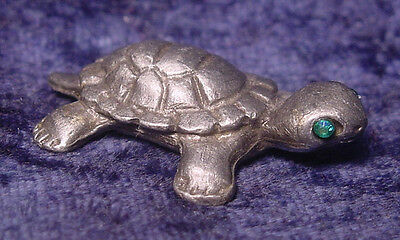 Pewter TURTLE with Crystal Eyes
