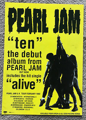 PEARL JAM - TEN / TOUR DATES 1992 Full page UK magazine ad