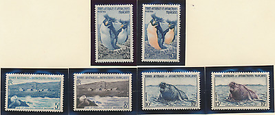 French Southern and Antarctic Territories Stamp Scott #2 To 7, Mint Never Hinged