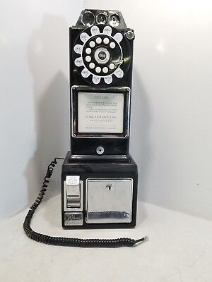 Vintage Three Coin Return Dial Pay Phone Collector Decor