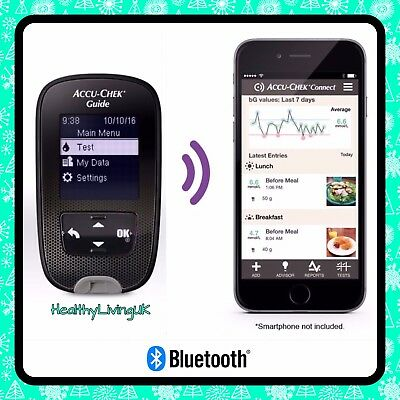 Accu-Chek Guide Blood Glucose Meter/Monitor - Wireless/Bluetooth - RRP £80