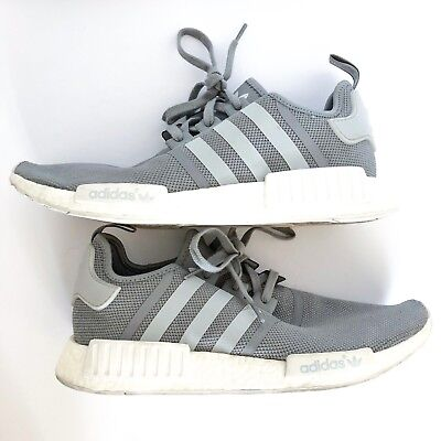 861e3b0363a69 Adidas NMD R1 Runner Boost S31503 Solid Grey White Mens Trainers Mesh Size  13
