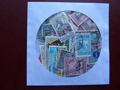 100 worldwide stamps,all different more 30 countries sample