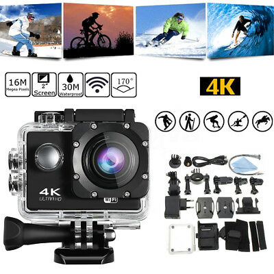 4K Sports Action Camera Ultra HD DV 16MP 1080p +Full Accessory Bundle as Go Pro