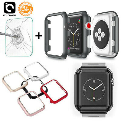 For Apple Watch Series 5/4/3 40 44MM Bumper iWatch Case Protective Screen Cover