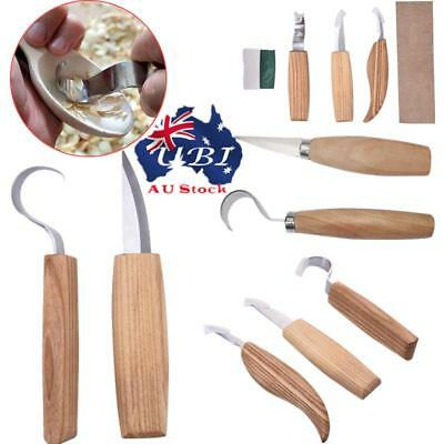 Stainless Steel Woodcarving Cutter Hooked Whittling Sharpening Cutter Tool Sets