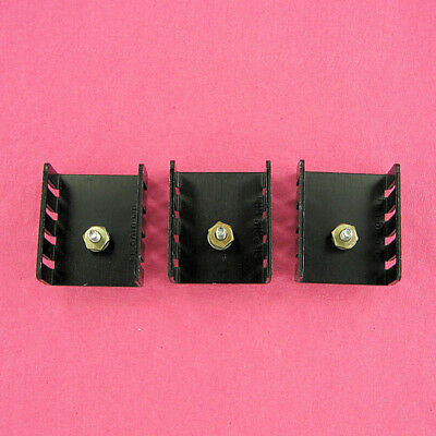 Aluminum Heat Sink TO-220 w/ Threaded Stud, Lock Washer, Nut for Power Tabs 3 ea
