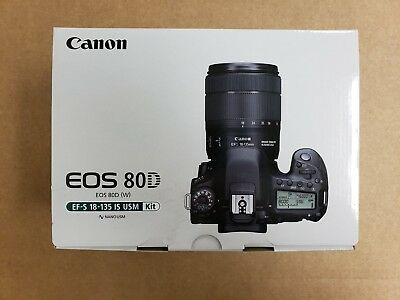 Canon EOS 80D Digital SLR Camera with EF-S 18-35mm IS USM Lens