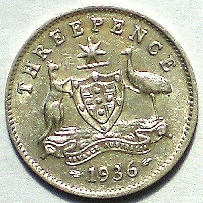 1936 Threepence (almost EF)