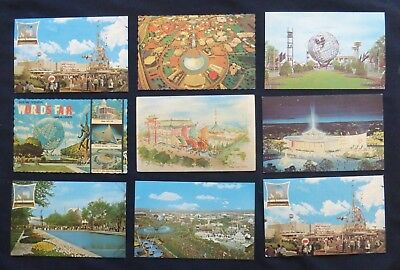 9 post cards   NEW YORK WORLDS FAIR  1964-65     #3737