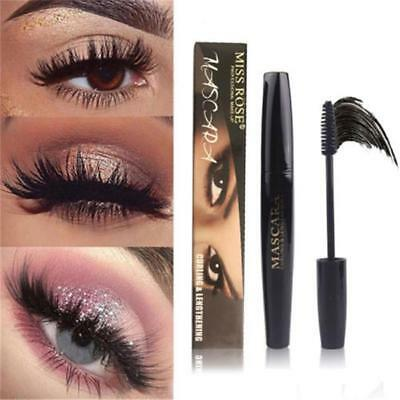 Black 4D Silk Fiber Eyelash Mascara Extension Makeup Lashes Waterproof Eye M7N4