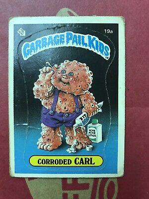 Garbage Pail Kids 1st Series 19a Corroded Carl Matte Good- Very Good 1985