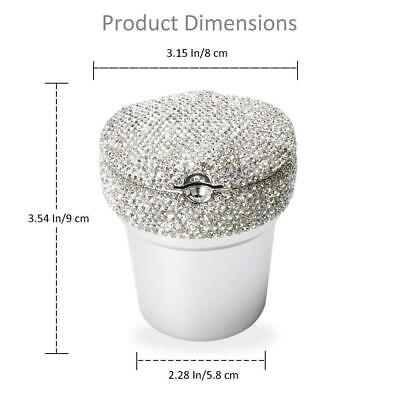 Diamond Car Home LED Light Ashtray Auto Travel Cigarette Ash Holder Cup Bling