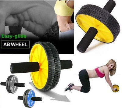 Dual Abs Abdominal Exercise Wheel Gym Fitness Body Strength Training Roller Foam