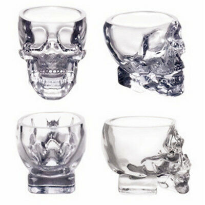 New Crystal Skull Head Vodka Whiskey Shot Glass Cup Drinking Ware Home AU
