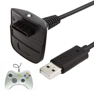 USB Charger Cable Lead For Microsoft Xbox 360 Wireless Controller Gamepad Hot BT