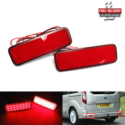 Red Bumper Reflector LED Tail Stop Light 12+ Ford Transit Tourneo Connect Custom