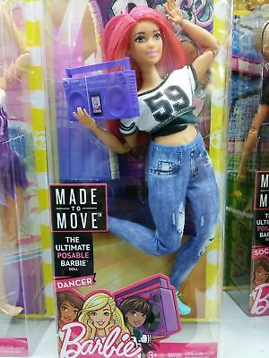 NRFB Brand New & HTF Barbie Sold Out Made to Move Curvy Dancer Barbie