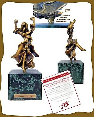 Dali, Birth Centenary 2004, Carmen The Gypsy, Bronze,bronce, Signe & Coa.firmada