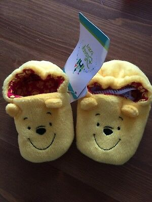 63f4dcb0129a Official Disney Winnie The Pooh Slippers Baby New Size 1 Mothercare Gift  Shoes