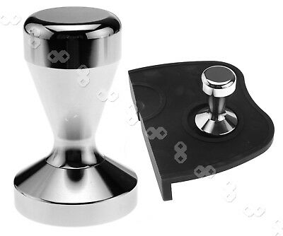 New Stainless Steel Polished Tampa Tamp Cafe Flat Base 51mm Coffee Tamper