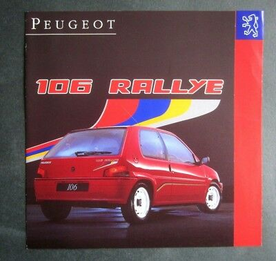 Car & Truck Manuals Peugeot 205 Turbo 16 4x4 Rallye Motorsport Prospekt Brochure Sheet 74