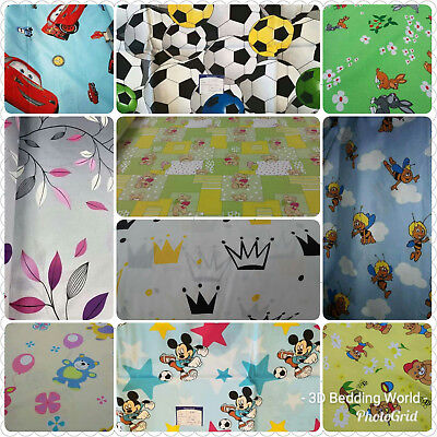 Baby Nursery 100% Cotton Fitted Sheet All Sizes Cot Single Bed