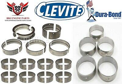 Pontiac V8 350 400 Clevite Rod Main Bearings With Durabond Cam Bearings 63-79