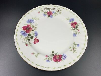 "Royal Albert Flower of the Month Series August Poppy 8"" Salad Plate Bone China"