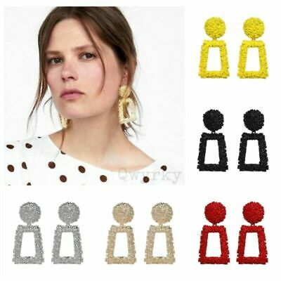 Fashion Punk Gold Metal Dangle Earrings Jewelry Geometric Big Drop Earrings UK