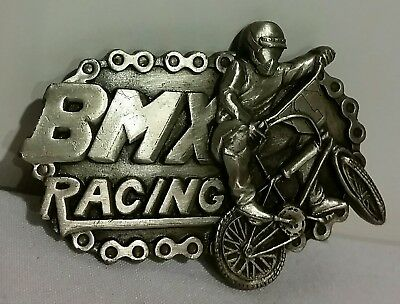 RARE VTG 1983 BMX Racing Belt Buckle by Bergamot Brass Works