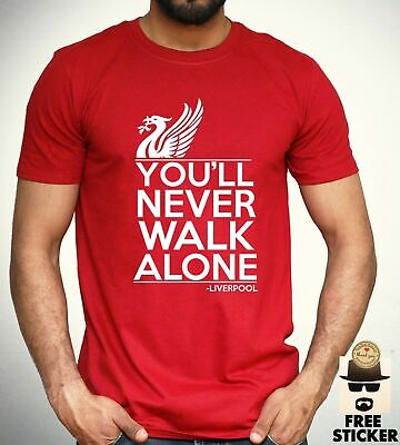 dccaa10c0 Liverpool T Shirt you ll never walk alone Football Fan Club YNWA Mens Gift  Tee