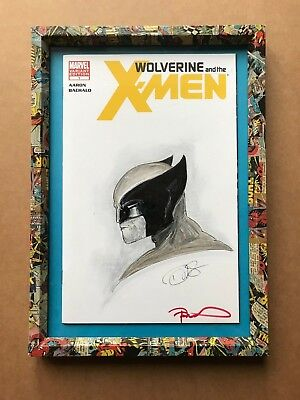 Wolverine & the X-Men #1 Variant Edition, Sketchbook Cover by Danny Haas, Framed