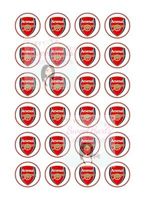 Arsenal Cupcake Toppers Fairy Cake Decorations X24