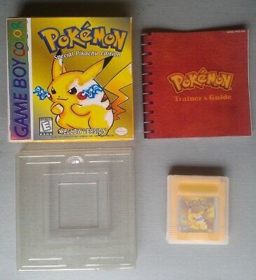 Juego Game Boy Color Gbc Pokemon Amarillo Competo Con Caja Y Manual Cib Pal Leer