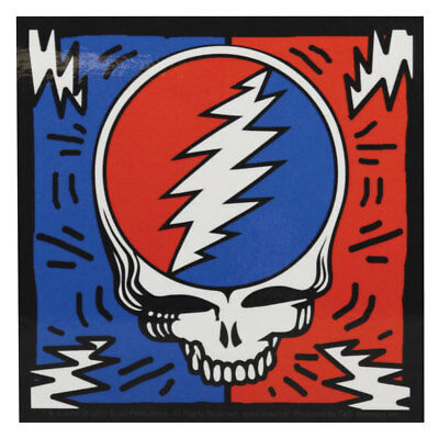 """Grateful Dead Bolted Steal Your Face Sticker - 4""""x4"""""""