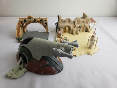 = Lot of 3 Star Wars 1998 LFL GTI Action Fleet Toy Theed Palace Micro Machines
