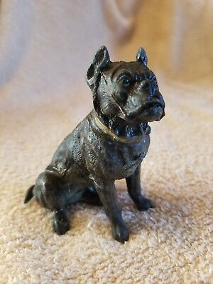Antique Bulldog, Pitbull, Staffordshire Metal Dog Figurine