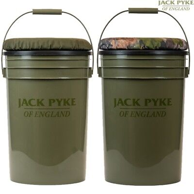 Jack Pyke Hide Seat 24 Litre Bucket Foam Cushioned Lid Fishing Hunting Decoy