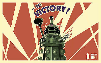 A4 Poster – Retro Doctor Who Dalek (Picture Print Art TV Show Tardis)